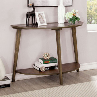 Uriel Round Sofa Table in Oak