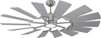 "Prairie 52"" Outdoor LED Ceiling Fan in Brushed Steel"