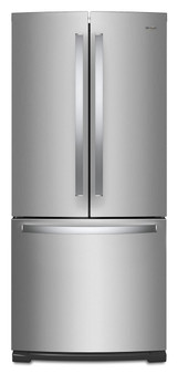 "20 cu.ft. 30"" French Door Refrigerator In Stainless Steel"