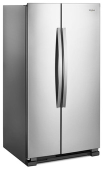 22 cu.ft. Side by Side Refrigerator in Monochromatic Stainless Steel