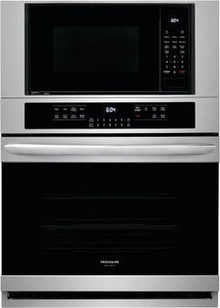 """Frigidaire Gallery 30"""" Electric Wall Oven & Microwave Combo in Stainless"""
