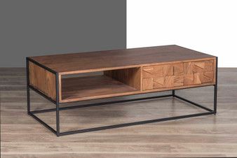 Light Brown Solid Wood Coffee Table