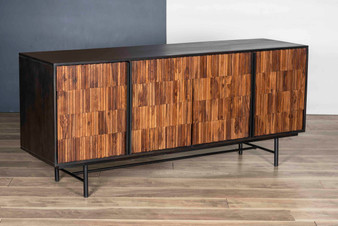 Natural & Charcoal Black Sideboard