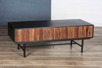 Natural & Charcoal Black Coffee Table