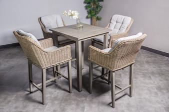 SWS17202 5 Piece Outdoor Bar Table Set