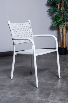 1023C Outdoor Stacking Chair in White