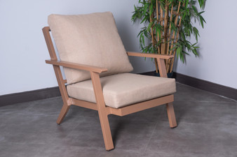 3101C Outdoor Patio Chair in Yellow Brown