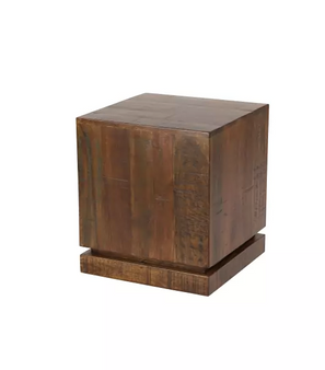 Rustic Natural Brown Mango Wood Side Table