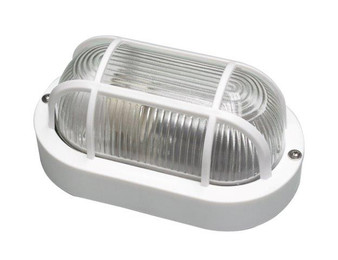 6469WH Outdoor Bulkhead Light in White