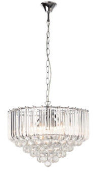 8759-5L Pendant Light in Chrome and Crystals