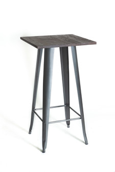 Silver/Wood Bar Table