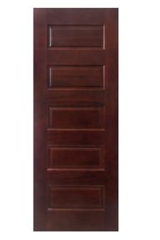 "M55 5 Panel 30""x80"" Mahogany Door"
