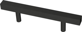 """Square Bar 3"""" Cabinet Pull in Flat Black"""