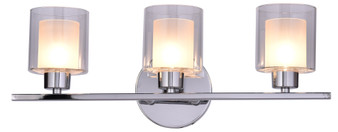 SW8491-3CH 3 Light Wall Sconce in Chrome