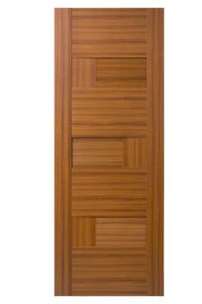 """OPH304 30""""x80"""" Hollow Core Door in Teak"""