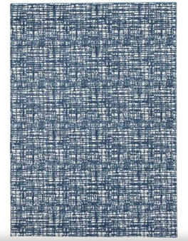 Norris 5' x 7' Rug in Blue and White