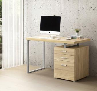 36314DUE Computer Desk in Natural Oak