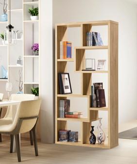 36047DUE Bookcase in Natural Oak