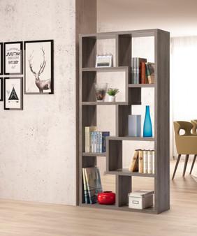 36047DWE Bookcase in Dark Taupe