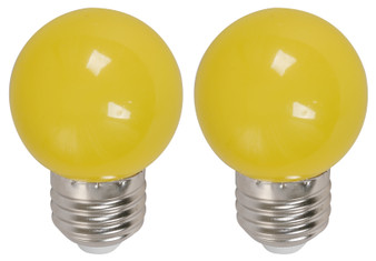 22074 1W G45 6000K LED Bulb in Yellow