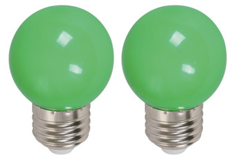22074 1W G45 6000K LED Bulb in Green
