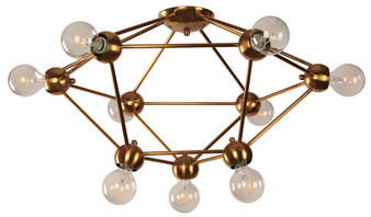 21316 9 Light Ceiling Light in Gold and Bronze