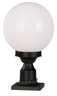 2078 1-Light Outdoor Post Mount in Black