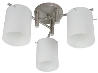 21574 3 Light Ceiling Light in Satin Nickel