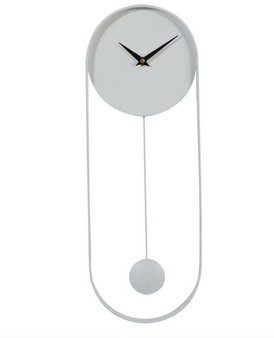 White Metal Wall Clock