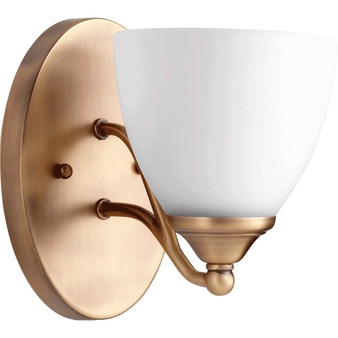 Brooks 1 Light Wall Sconce in Aged Brass