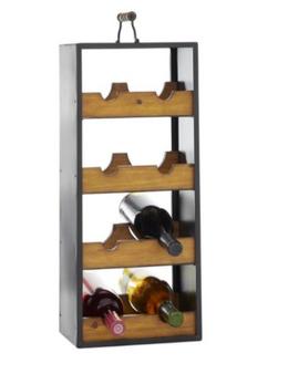 8 Bottles Wood Wine Rack