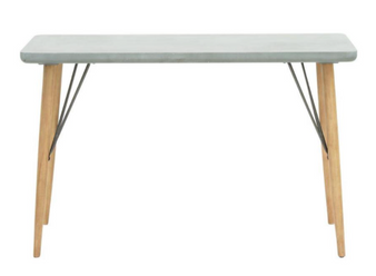 Grey & Light Wood Console Table