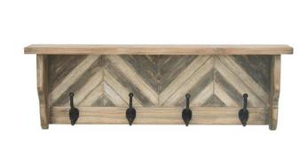 Wood & Metal Wall Shelf