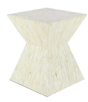 Shell Inlay Accent Table