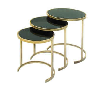 Gold & Black Nesting Accent Tables (Set of 3)