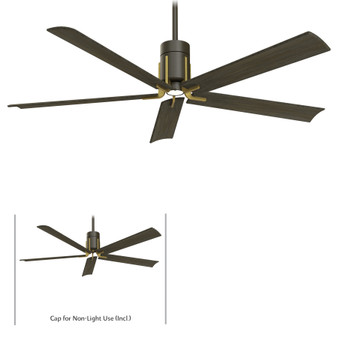 "Clean 60"" LED Ceiling Fan in Oil Rubbed Bronze"