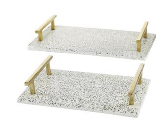 Rectangular Terrazzo Trays (Set of 2)