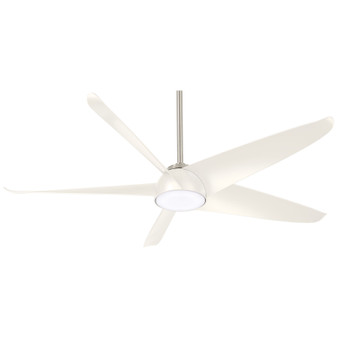 "Ellipse 60"" LED Ceiling Fan in White"