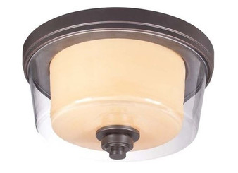 Decker 2 Light Ceiling Light in Sudbury Bronze