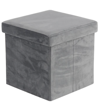 Grey Foldable Black Storage Stool