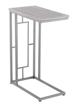 Grey Iron & Wood Accent Table