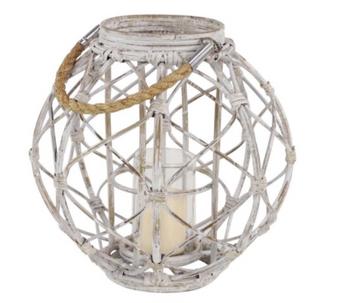 White Wood Rope Lantern