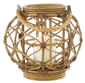 Brown Wood Rope Lantern