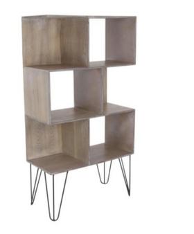 Brown Wood 6-Cube Shelf