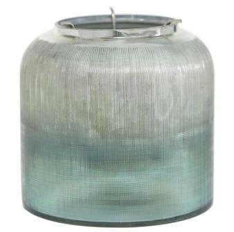 Turquoise Glass Lantern