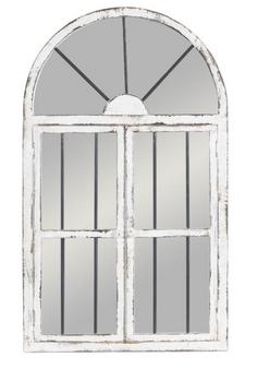 Wood Window Wall Mirror