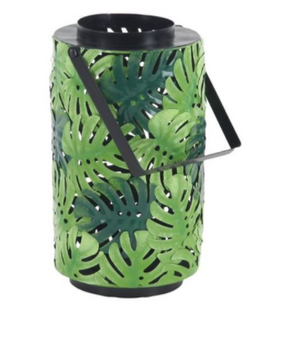 Green Leaf Design Candle Lantern