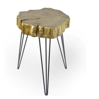 Rustic Gold Accent Table