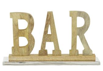 "Brown Wood ""Bar"" Decorative Sign"
