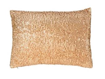 Gold Sequins Pillow